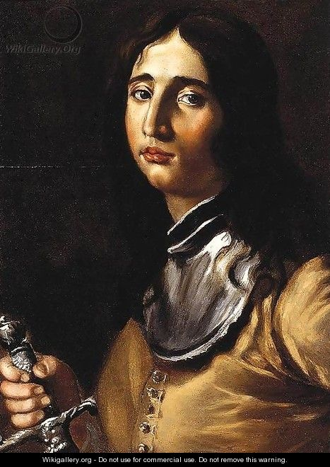 Portrait of a Young Soldier with a Lance - Cesare Dandini