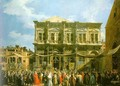 Venice- The Feast Day of St. Roch (The Doge Visiting the Church and the Scuola di San Rocco) 1735 - (Giovanni Antonio Canal) Canaletto
