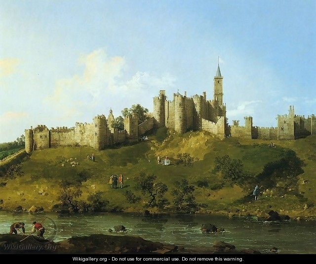 Alnwick Castle at Northumberland 1752 - (Giovanni Antonio Canal) Canaletto