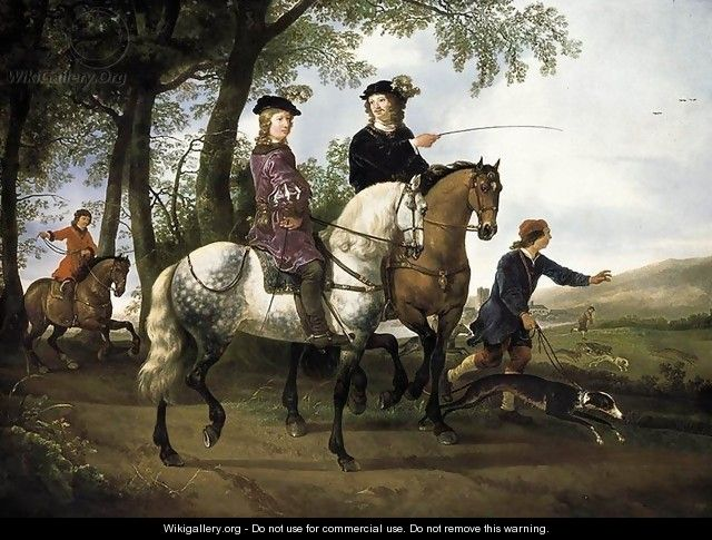 Landscape with a Hunt, 1650-55 - Aelbert Cuyp