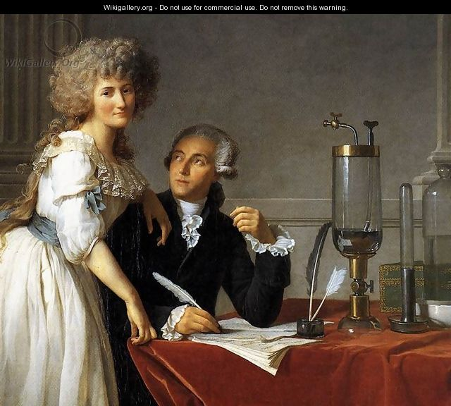 Portrait of Antoine-Laurent and Marie-Anne Lavoisier (detail) 1788 - Jacques Louis David