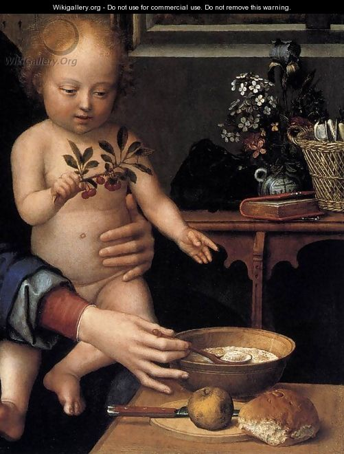 Virgin and Child with the Milk Soup (detail) c. 1515 - Gerard David