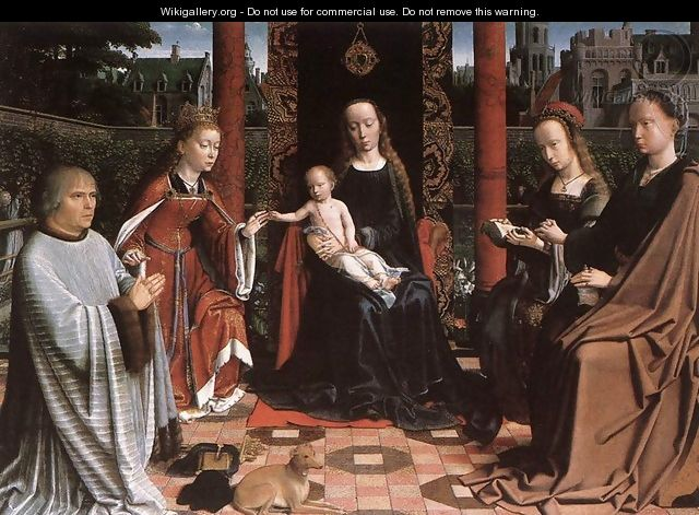 The Mystic Marriage of St Catherine 1505-10 - Gerard David
