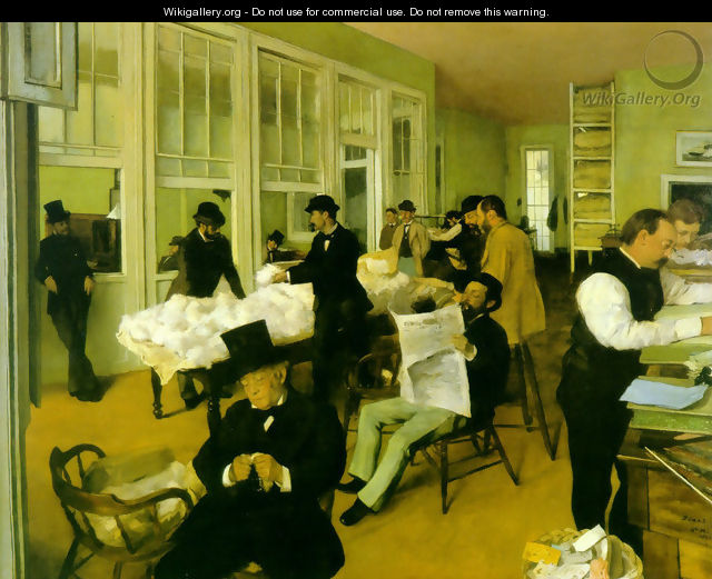 Portrait in a New Orleans Cotton Office 1873 - Edgar Degas