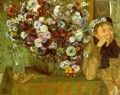 Madame Valpinçon with Chrysanthemums 1865 - Edgar Degas