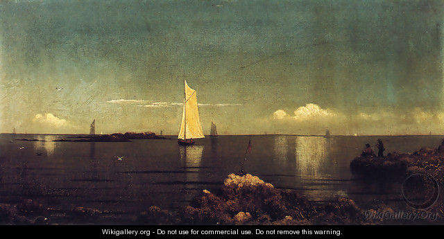 A Summer Afternoon Aka Boston Harbor - Martin Johnson Heade