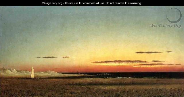Marsh Scene At Dusk - Martin Johnson Heade