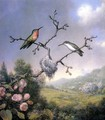 Hummingbirds And Apple Blossoms - Martin Johnson Heade