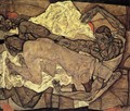 Lovers Man And Woman I - Egon Schiele