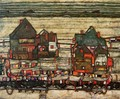Houses With Laundry Aka Seeburg II - Egon Schiele