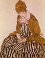 Edith Schiele Seated - Egon Schiele
