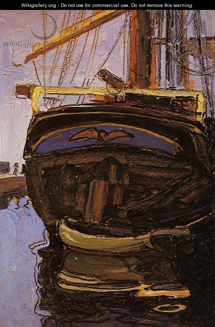 Sailing Ship With Dinghy - Egon Schiele