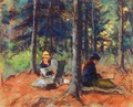 Artists In The Woods - Robert Henri