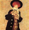 Woman With Black Hat - Egon Schiele