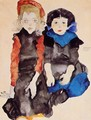 Two Little Girls - Egon Schiele