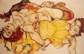 Two Girls Lying Entwined - Egon Schiele