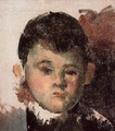 Portrait Of The Artists Son (unfinished) - Paul Cezanne