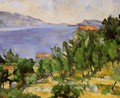 The Bay Of L Estaque From The East - Paul Cezanne