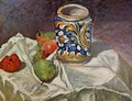 Still Life With Italian Earthenware - Paul Cezanne