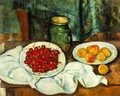 Still Life With A Plate Of Cherries Aka Cherries And Peaches - Paul Cezanne