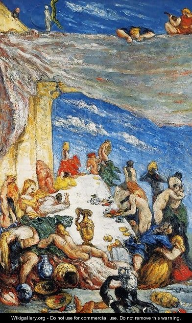 The Feast Aka The Banquet Of Nebuchadnezzar - Paul Cezanne