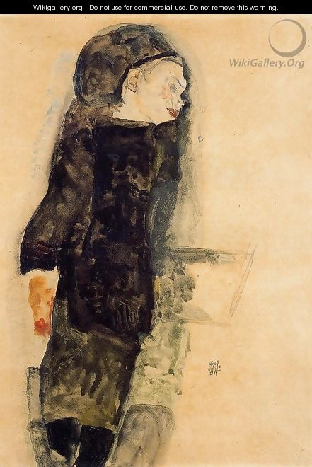 Child In Black - Egon Schiele