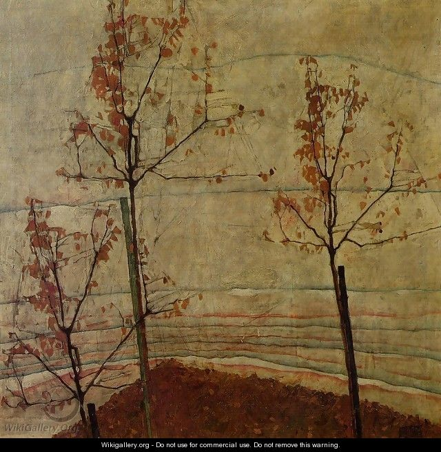 Autumn Trees - Egon Schiele
