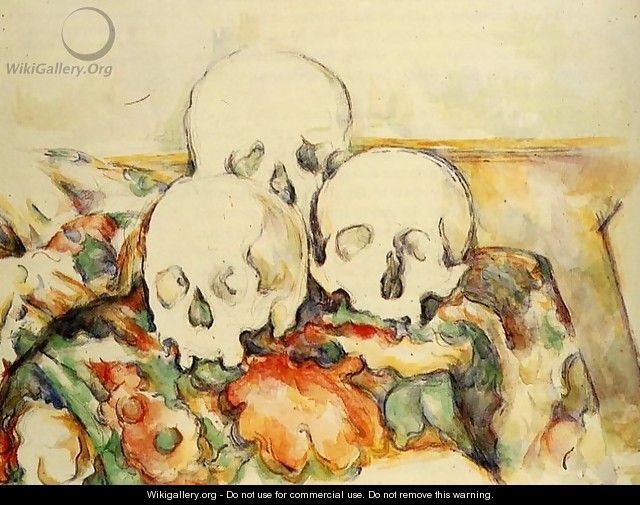 Three Skulls - Paul Cezanne