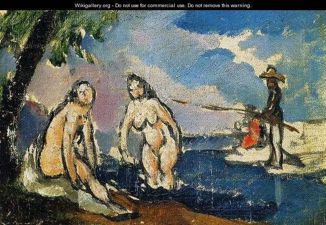 Bathers And Fisherman With A Line - Paul Cezanne