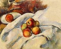 Apples On A Sheet - Paul Cezanne