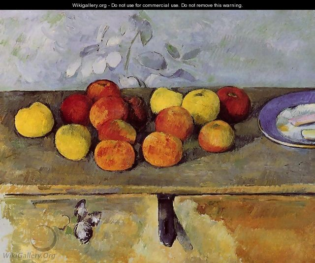 Apples And Biscuits - Paul Cezanne