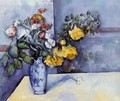 Flowers In A Vase3 - Paul Cezanne
