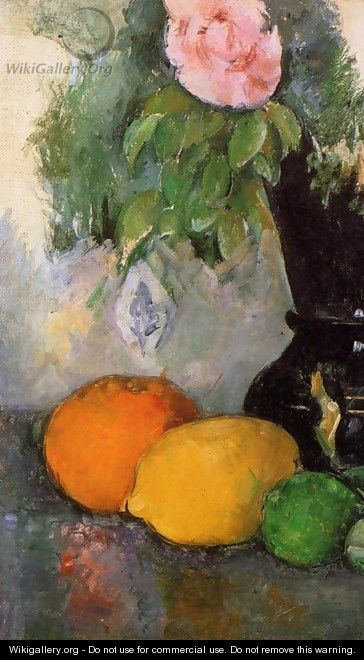 Flowers And Fruit - Paul Cezanne