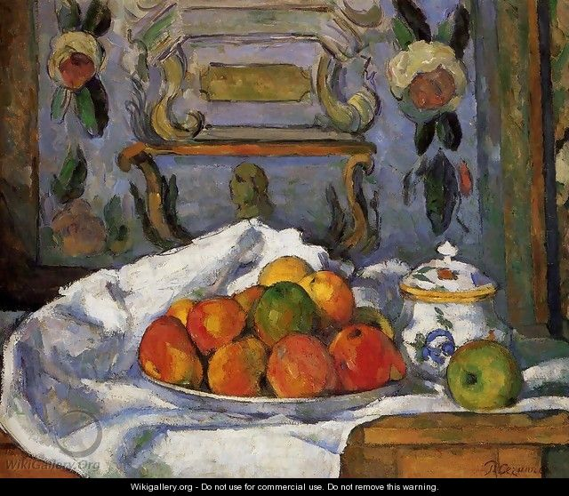 Dish Of Apples - Paul Cezanne