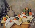 Curtain Jug And Fruit - Paul Cezanne