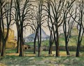 Chestnut Trees At The Jas De Bouffan - Paul Cezanne