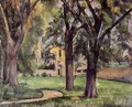 Chestnut Tree And Farm At Jas De Bouffan - Paul Cezanne