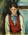 Boy In A Red Vest 4 - Paul Cezanne