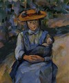 Little Girl With A Doll - Paul Cezanne