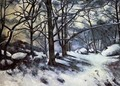 Melting Snow Fontainbleau - Paul Cezanne