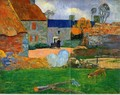 The Blue Roof - Paul Gauguin