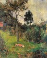 Young Woman Lying In The Grass - Paul Gauguin