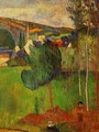 View Of Pont Aven From Lezaven - Paul Gauguin