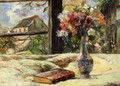 Vase Of Flowers And Window - Paul Gauguin