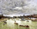 The Seine At Paris With The Pont Du Carousel Aka The Seine At Paris Pont Alexander III - Frank Myers Boggs