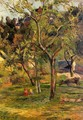 Children In The Pasture Aka Orchard Below Bihorel Church - Paul Gauguin