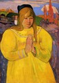 Breton Woman In Prayer - Paul Gauguin