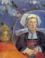 La Belle Angele Aka Madame Angele Satre The Inkeeper At Pont Aven - Paul Gauguin