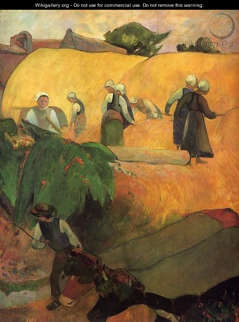 Haymaking In Brittany - Paul Gauguin