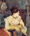 Madame Mette Gauguin In An Evening Dress - Paul Gauguin